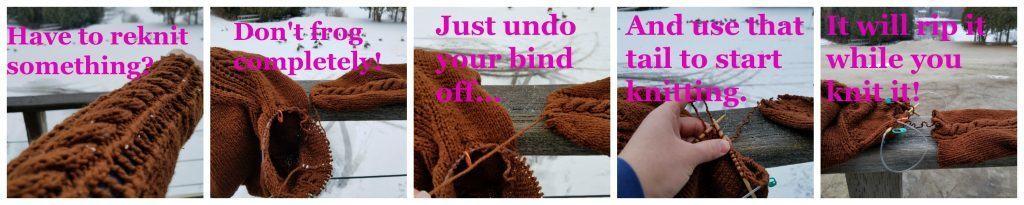 knitting tip frogging